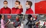 Behelfs-Spuckschutzmasken