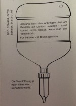 Dosierspender ( Zitze) für 2500ml Mint Eutersalbe Flaschen
